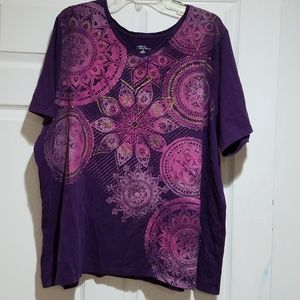 Plum Shirt with Design